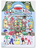 Melissa & Doug Puffy Sticker Activity Book: 'Tis the Season - 63 Reusable Stickers