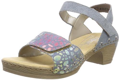 Womens 66863 Closed Toe Sandals Rieker tonXh