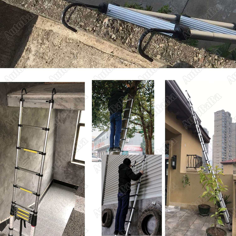Escalera plegable de aluminio para altillo de 6,2m, con gancho desmontable, carga máxima 150 kg, diseño de seguridad 2020: Amazon.es: Bricolaje y herramientas