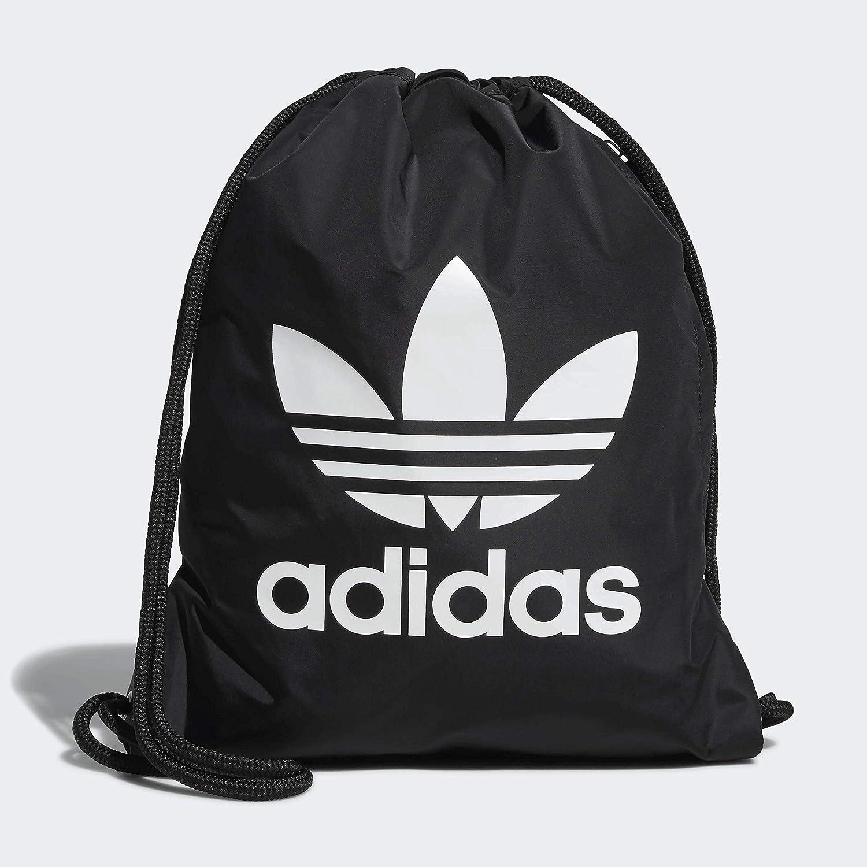 adidas Originals Unisex Trefoil Sackpack, Black/White, ONE SIZE