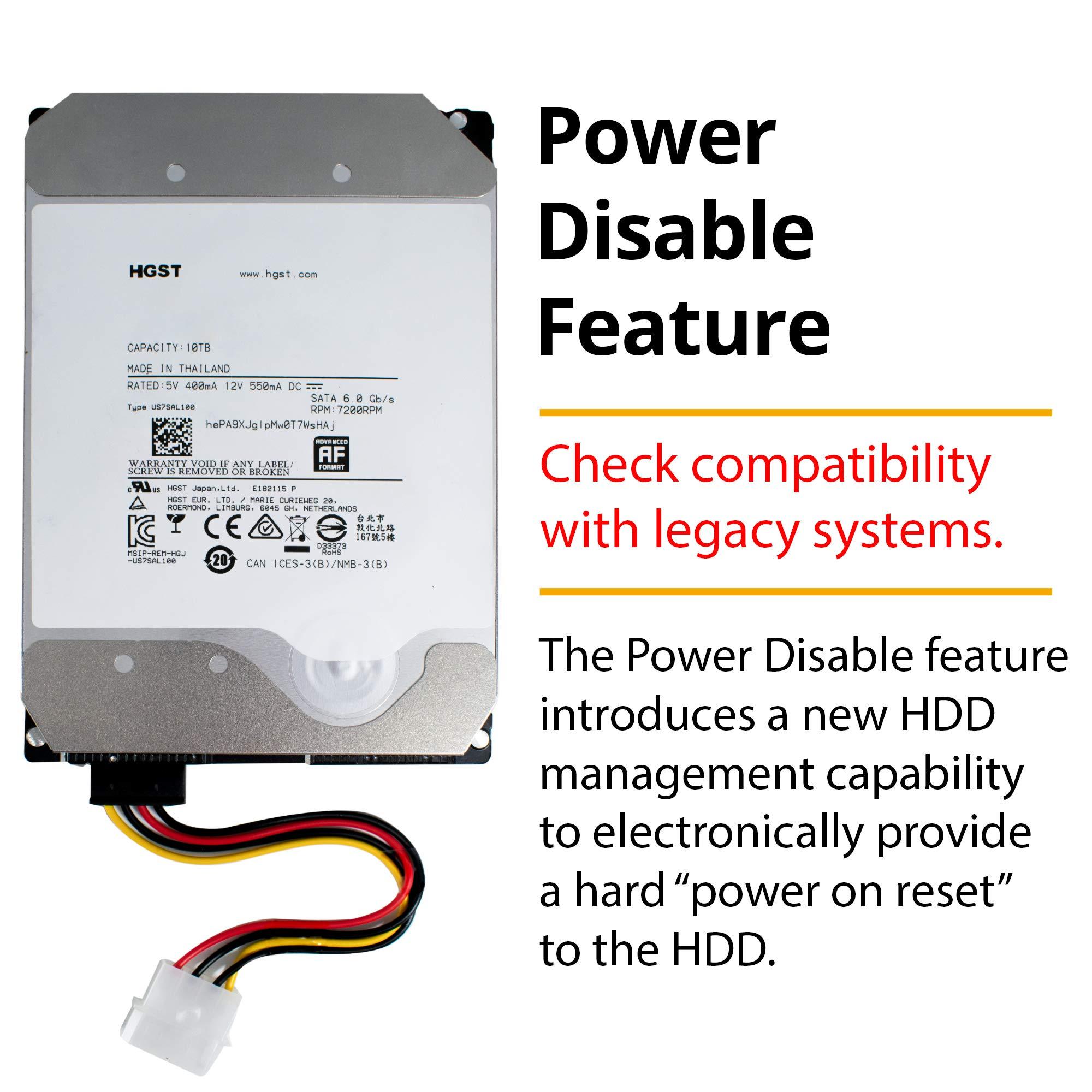 HGST Ultrastar He10 | HUH721010ALE600| 0F27452 | 512e | 10TB SATA 6.0Gb/s 7200 RPM 256MB Cache 3.5in | Enterprise Hard Drive HDD,  (Renewed) by HGST (Image #2)