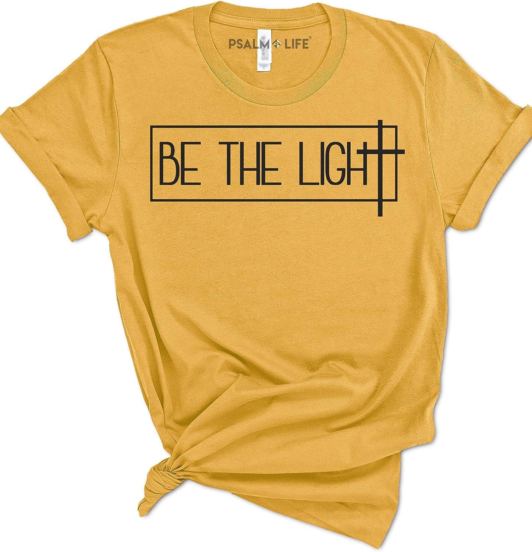 Amazon.com: Psalm Life Be The Light Christian T-Shirt - Unisex Religious  Faith Tee: Clothing