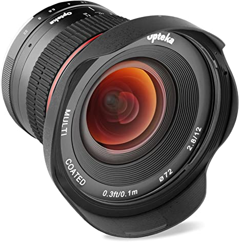 Opteka 12mm f/2.8 HD MC enfoque manual lente gran angular para Panasonic Micro 4/3 montaje cámaras digitales: OPTEKA: Amazon.es: Electrónica
