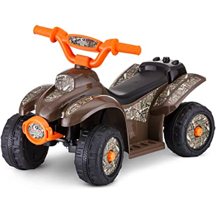 Amazon Com Kid Trax 6v Mossy Oak Quad Ride On Toys Games
