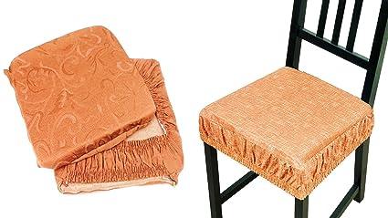 takestop® Set 6 COPRISEDIA Cuscini Arancione con Fascia Elastico ...