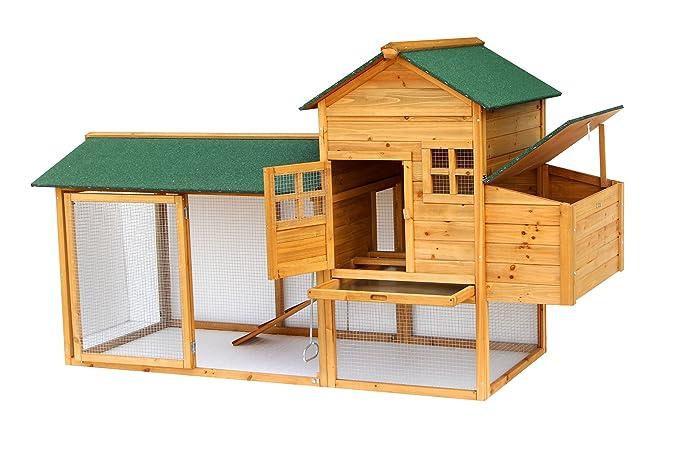 Lovupet 2135 - Gallinero, jaula, aviario de madera, para animales pequeños como patos, calidad de lujo: Amazon.es: Productos para mascotas