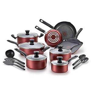 T-fal B209SI Initiatives Nonstick Cookware Set, 18-Piece