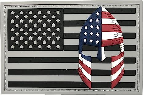 Bandera de Estados Unidos con Spartan casco (Molon Labe) Velcro 3d pvc goma moral parche, representan American Pride, perfecto para Tactical operador gorras, sombreros, chaquetas, bolsas, paquetes y prendas militares: Amazon.es: Juguetes