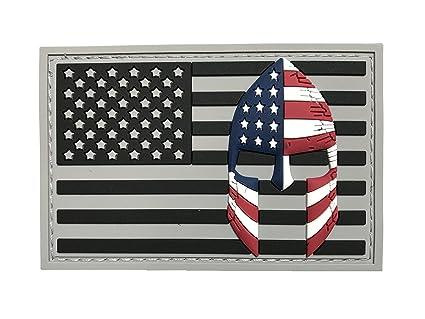 Amazon.com  USA Flag with Spartan Helmet (Molon Labe) 3D PVC Rubber ... f633bd07c79