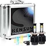 Kensun New Technology All-in-One LED Headlight Conversion Kit (from HID or Halogen) with Cree Bulbs - H4 Dual-Beam - 40W 4000LM x2 - 2 Year Full Warranty
