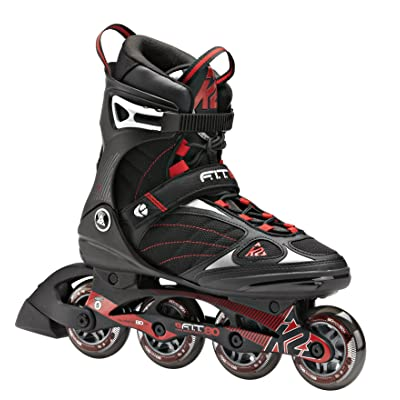 K2 Skate F.I.T. 80 Inline Skates, Black/Red, 5 : Sports & Outdoors