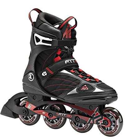 6354b605611 Amazon.com : K2 Skate F.I.T. 80 Inline Skates, Black/Red, 5 : Sports ...