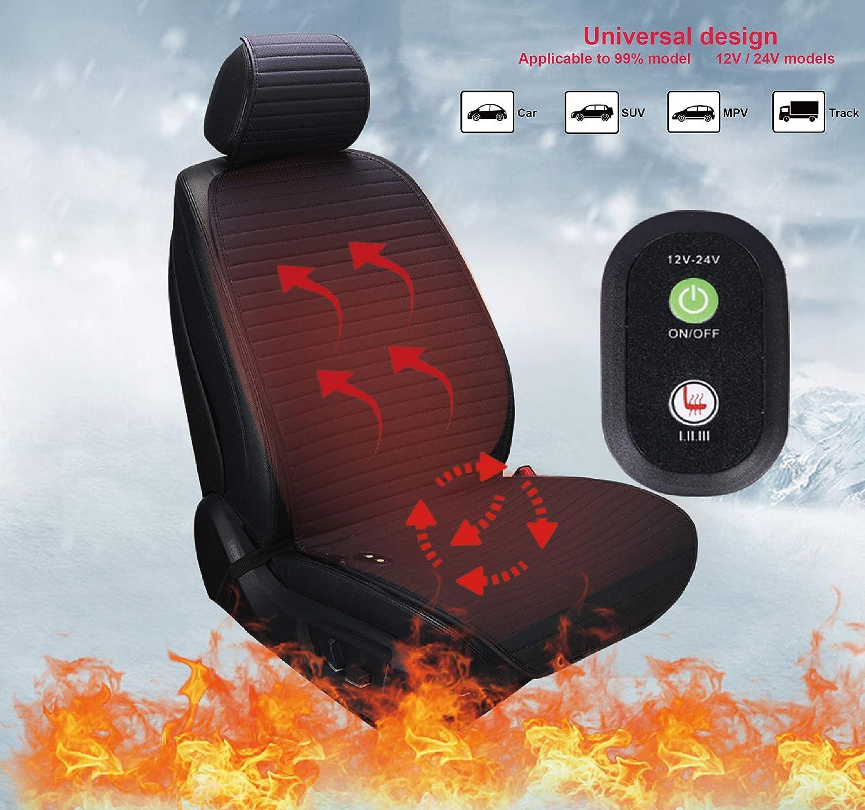 Bangled Heated Car Seat Cushion Cover with 3 Heating Levels Heating Seat Cushion Cover for Car Truck SUV MPV 12V//24V Car Seat Warmer