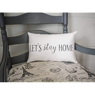 alerie Sassoon Lets Stay Home Pillowcase Home Pillowcase Cushion Home Decor Special Couple Burlap Pillowcase Cushion Fabric Pillowcase 15x10 Accent Pillowcase Cushion Farmhouse Pillowcase Cushion