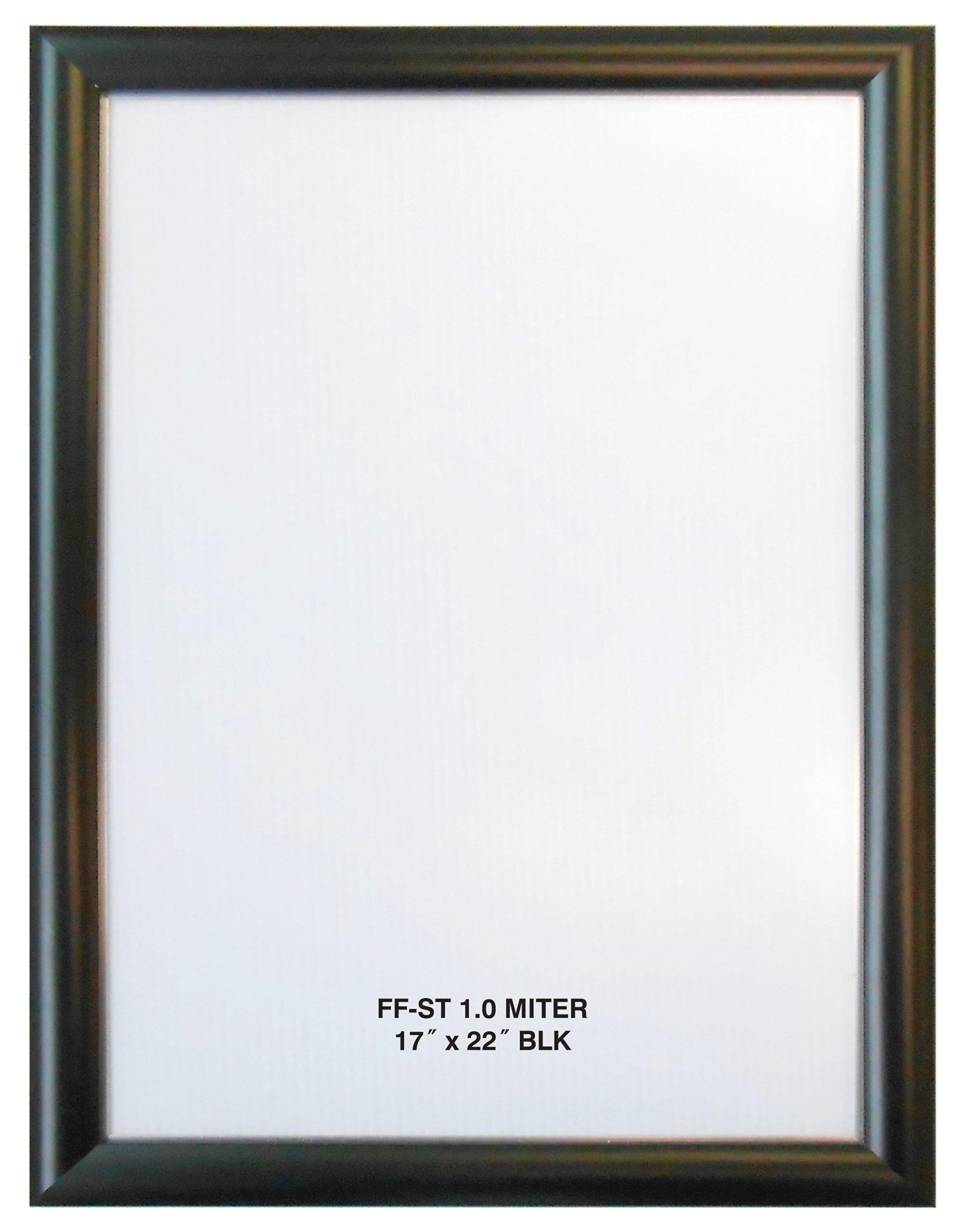 Alpina Manufacturing 17x22 Black Aluminum Snap Frame 1.0'' Profile, Wall Mounted
