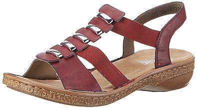 Rieker Damen 62850 Offene Sandalen mit Keilabsatz