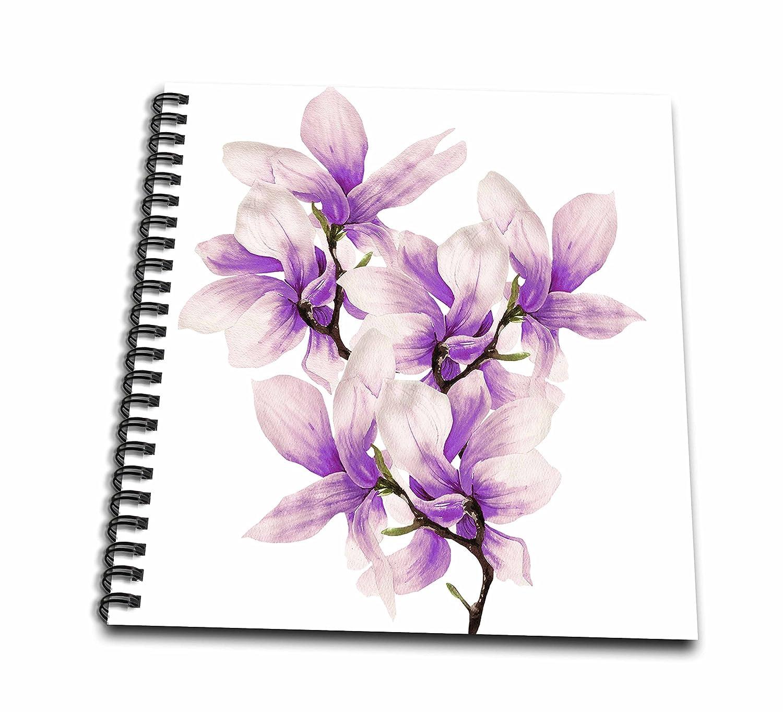 3dRosa Pretty Aquarell lilat Magnolia Blaume Memory Book, mehrfarbig, 12 x 12 Zoll B06X9ZZMBP    Adoptieren