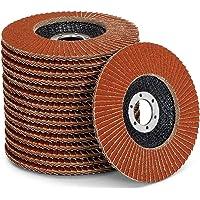 Premium waaierschijven set │ bruin │ 10 stuks │ Ø 125 mm │ Mixpack (elk 2 x korrel 40/60 elk 3x korrel 80/120…