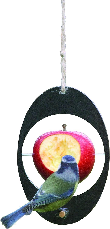Eco Range AF - Producto de decoración de jardín, alimentador del pájaro, Color Negro