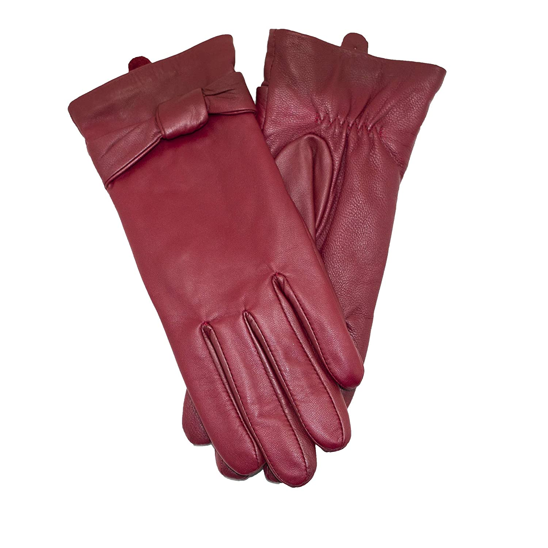 0e99e8f0a75509 ... 100% YISEVEN Soft Damen Lederhandschuhe für Winter Warm Lammfell  Farbige Handschuhe ...