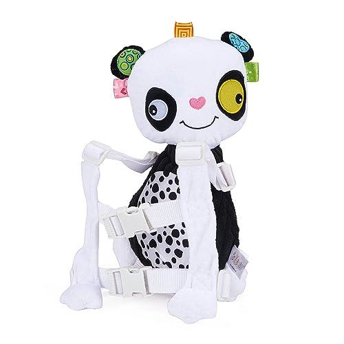 Sac à Dos Enfant Garderie Maternelle Anti-Perdu avec Corde de Traction GENOLD Sac Creche Sac Animaux École Cartoon Mignon pour bébé Fille garçon 1-3 Ans-Panda