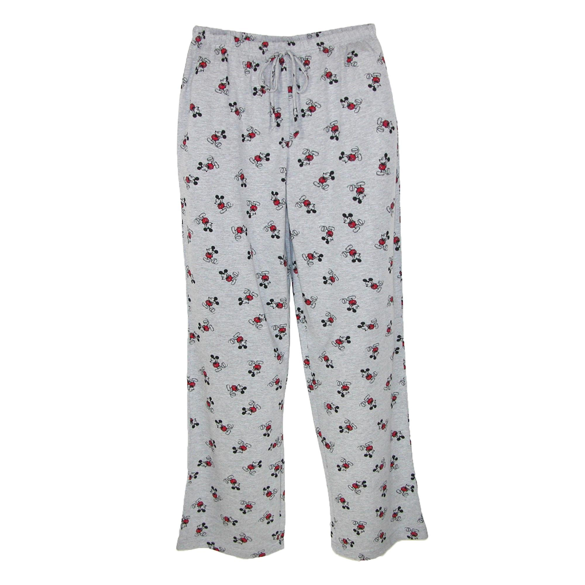 Disney Mickey Mouse Pajama Pants, X-Large, Grey