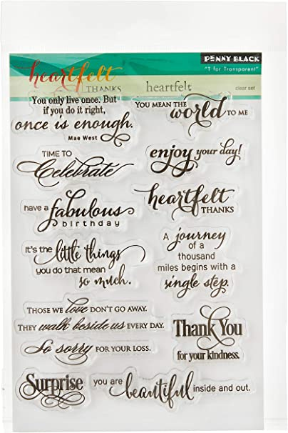 Penny Black Love You Clear Stamps
