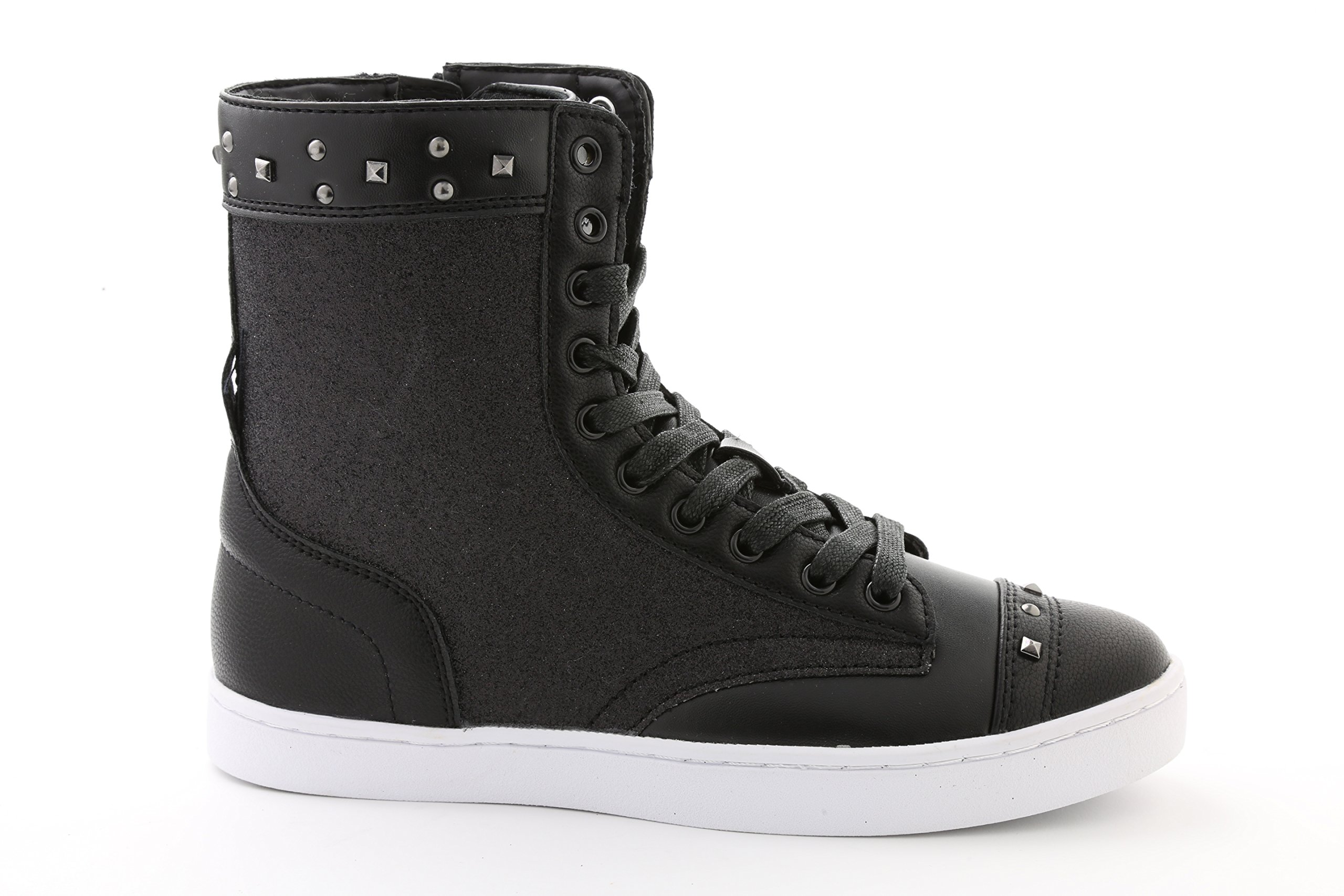 Pastry Military Glitz Adult Dance Sneaker, Black/White, Size 11 by Pastry