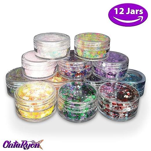 OntaRyon x12 Rostro Purpurina Ollas Chunky Glitter Mixta Para ...
