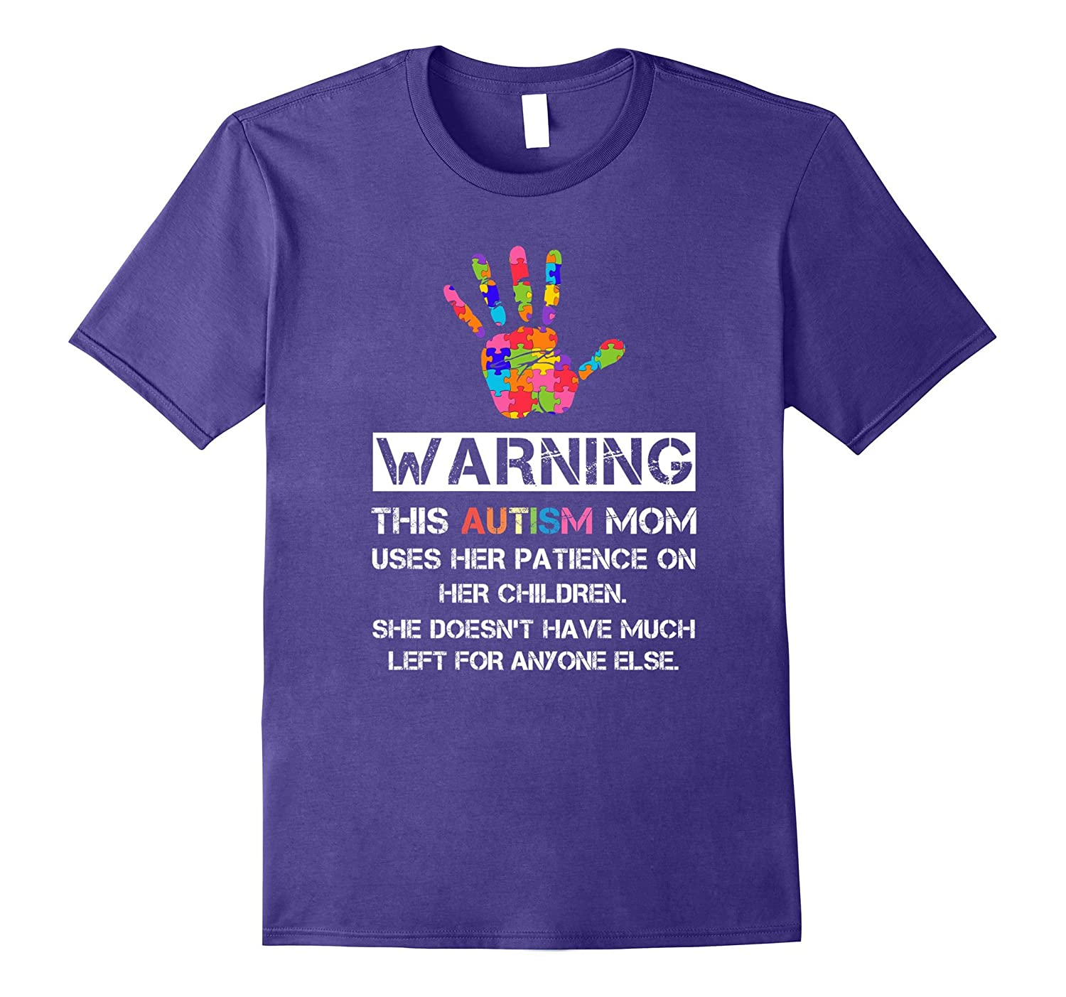 Autism Awareness Warning This Autism Mom T-Shirt-FL