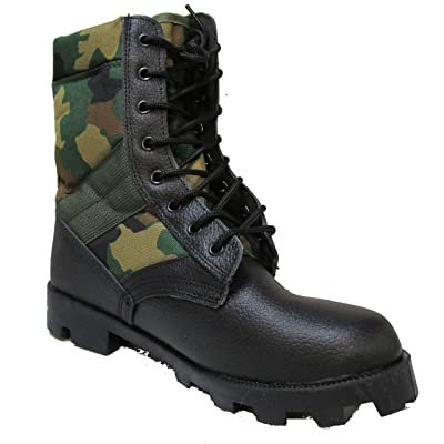 Military Uniform Supply Jungle Boots with Woodland CAMO: Shoes