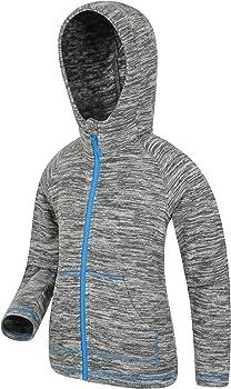for Winter Travelling Microfleece Girls Jacket Quick Drying Pullover Outdoors Warm Boys Sweatshirt Lightweight Hoody Mountain Warehouse Snowdonia Kids Hoodie