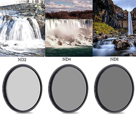 52 mm de densidad neutra Kit de filtros de cámara profesional ...