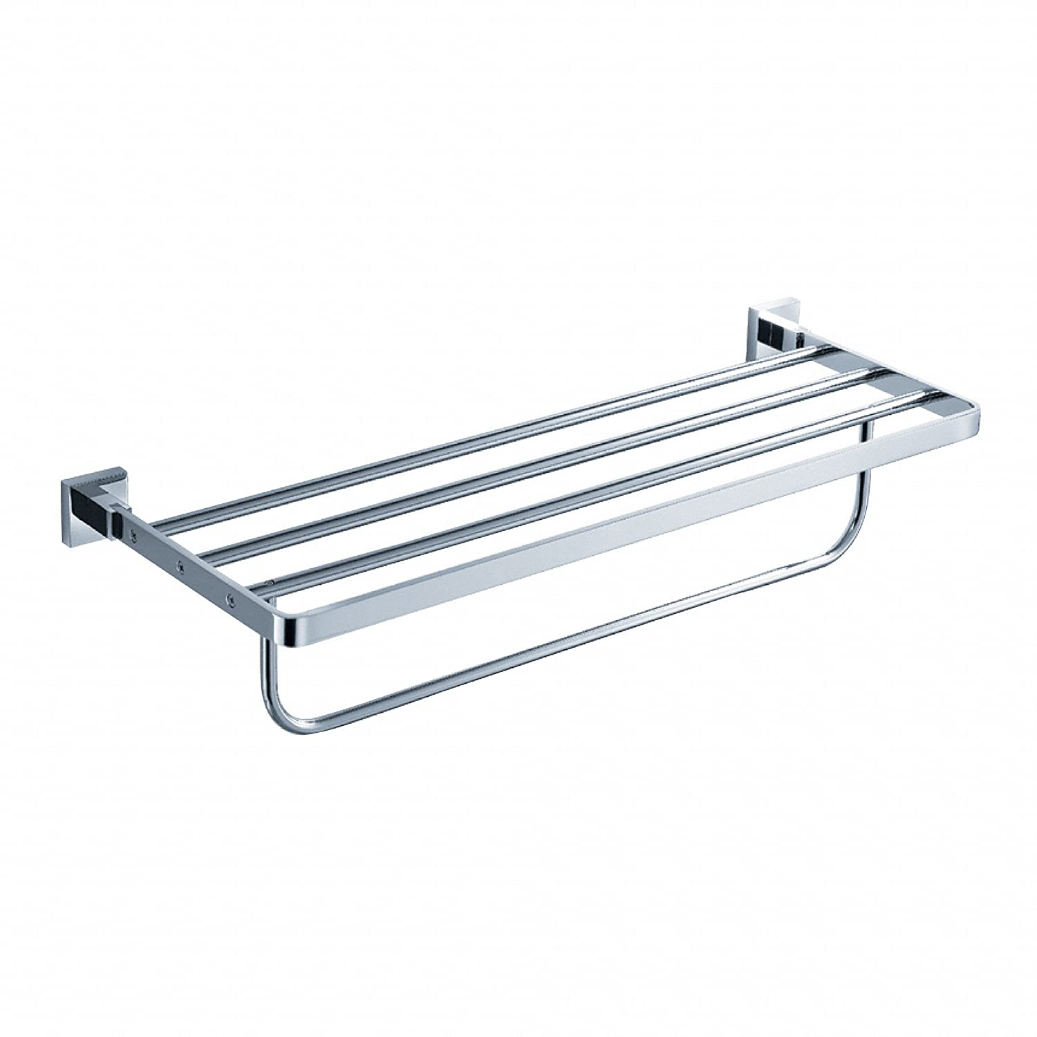 Kraus KEA 14442CH Aura Bathroom Accessories   Bath Towel Rack With Towel Bar    Mounted Bathroom Shelves   Amazon.com