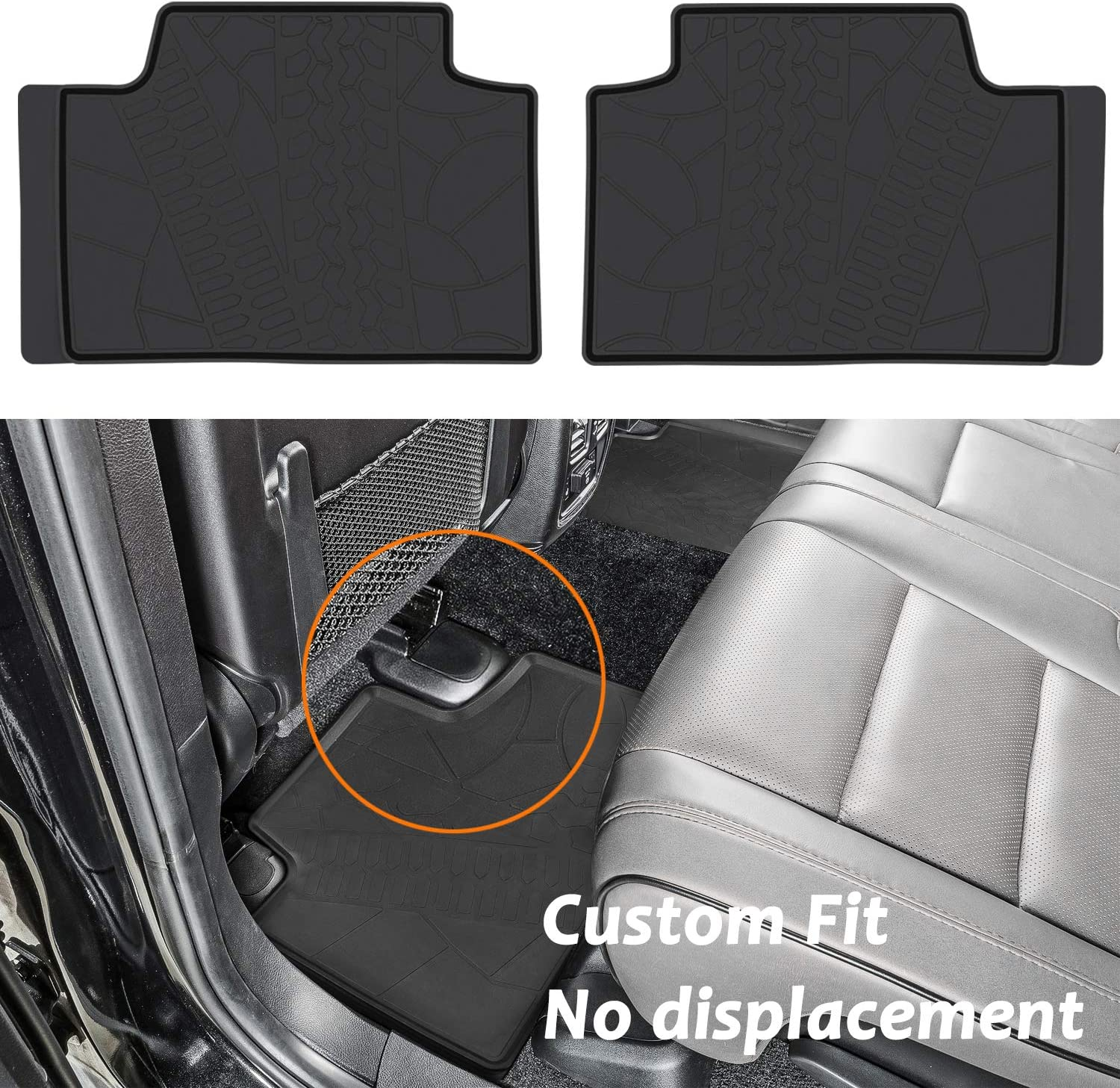 Bonbo Floor Mats for Jeep Grand Cherokee 2017 2018 2019 2020 Custom Fit Front /& Rear Seat Liner Mats All-Weather Guard Heavy Duty Eco-Friendly Rubber Waterproof Pack of 4