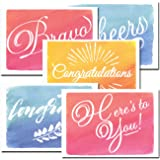 Congratulations Cards: Colorful Assortment – 30 Boxed Blank Note Cards + 32 Envelopes Made in USA by CroninCards