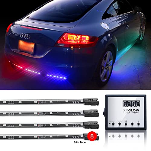 Second Generation 8pc 24in Tubes Advanced UFO style 3 Million Color Remote Control LED Under-car Light Kit