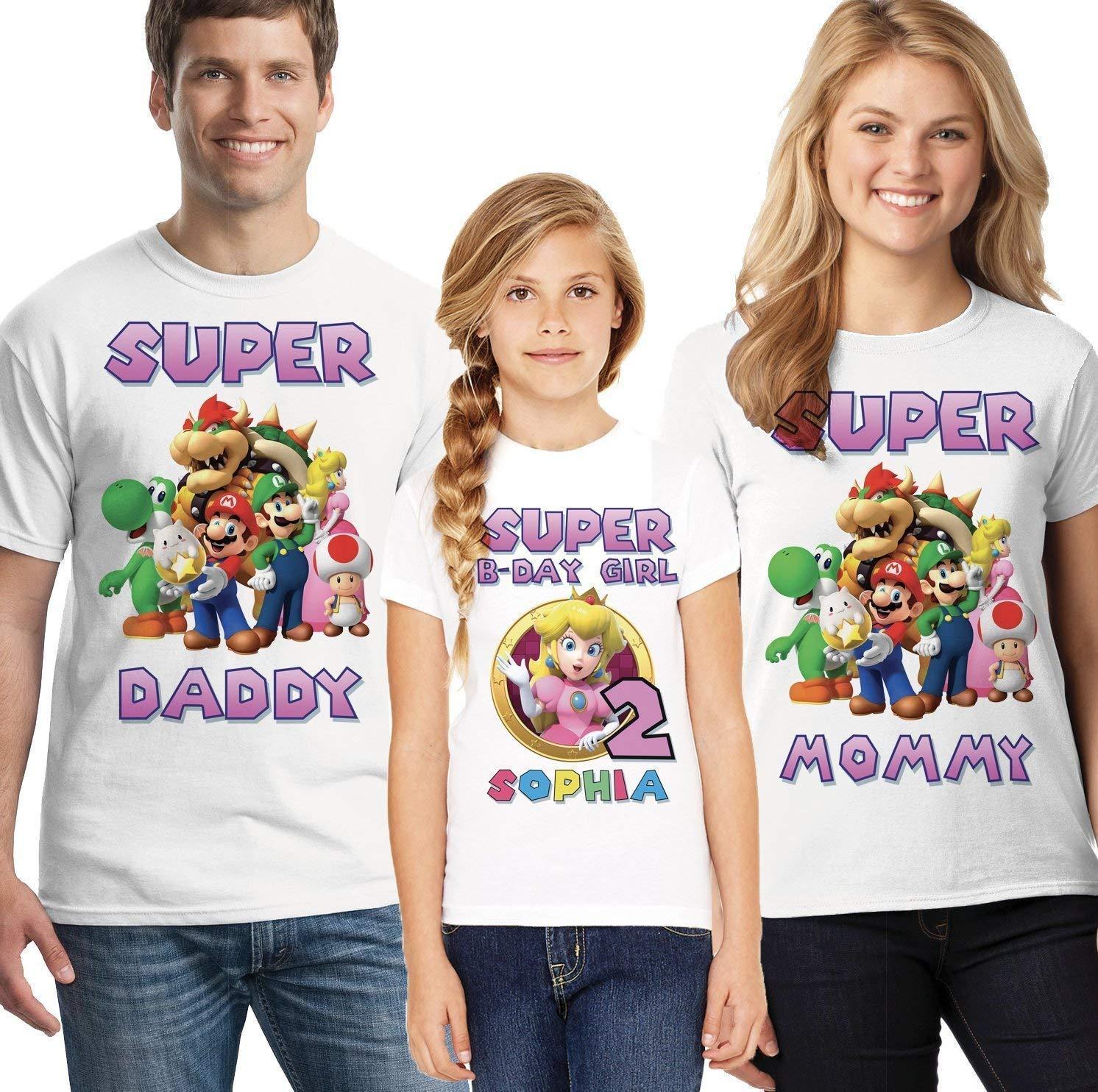 Personalized Princess Peach Birthday T-Shirt