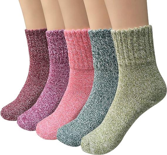 Ladies Fashion Simple Design Casual Breathable Soft Socks Winter Warm LC