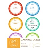 Premium Canning Labels for Mason Jars, Removable Waterproof Write-On Food Labels for Canned Jams, Preserves, Pantry…