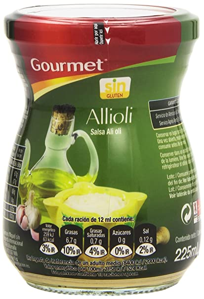 Gourmet - Allioli - Salsa Ali oli - 225 ml