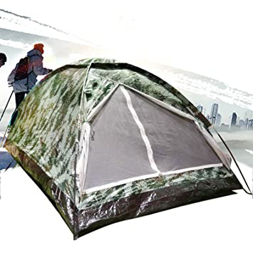 55d6a33833 2 Person Ultralight Portable Camo Backpack Tent With Carry Bag For Outdoor  Camping Hiking Digital Camouflage Rain Fly Water Resistant Folding Tent: ...