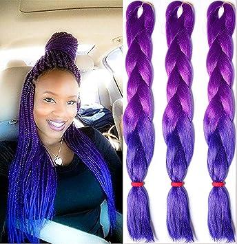 Amazon.com : [17 PACK] Ombre Kanekalon Jumbo Braiding Hair 17 ...