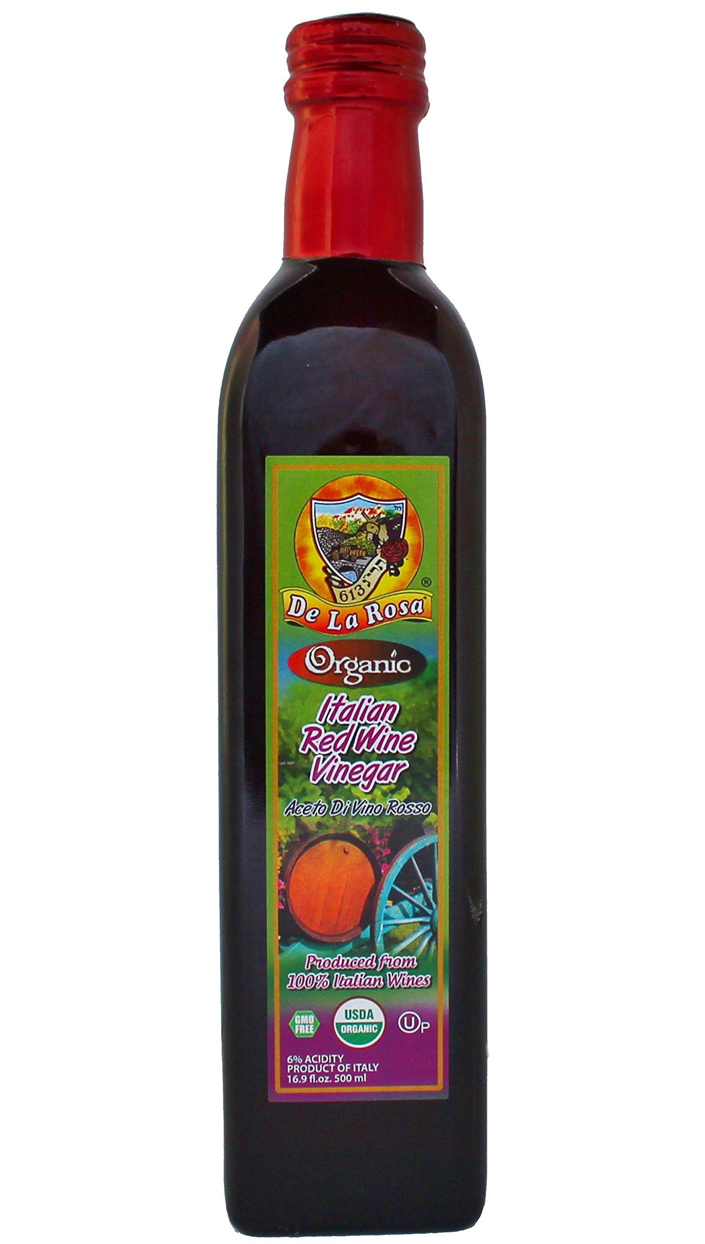 De La Rosa Real Foods & Vineyards - Organic Italian Red Wine Vinegar (16.9 oz/500 ml)