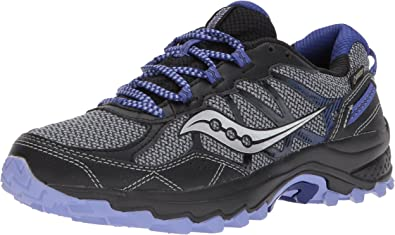 Saucony Womens Grid Excursion TR11 Running Shoe Black Red Sports Breathable
