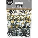Amscan 1.2oz Gold Sparkling 50th Birthday Confetti