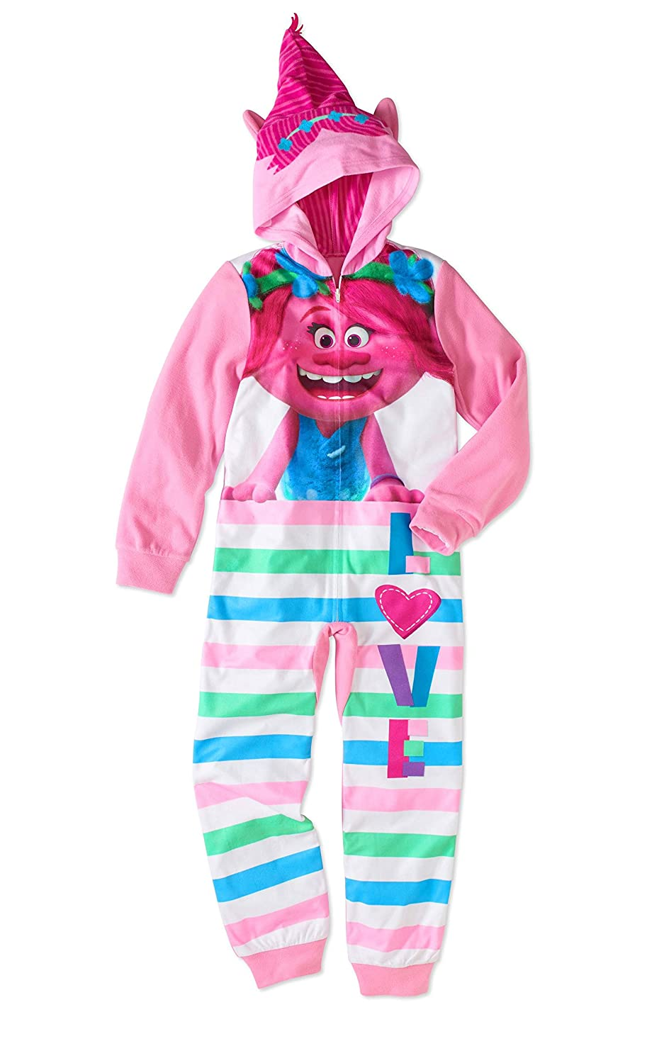 AME Sleepwear Trolls Poppy Little Girls Costume Sleeper Pajama