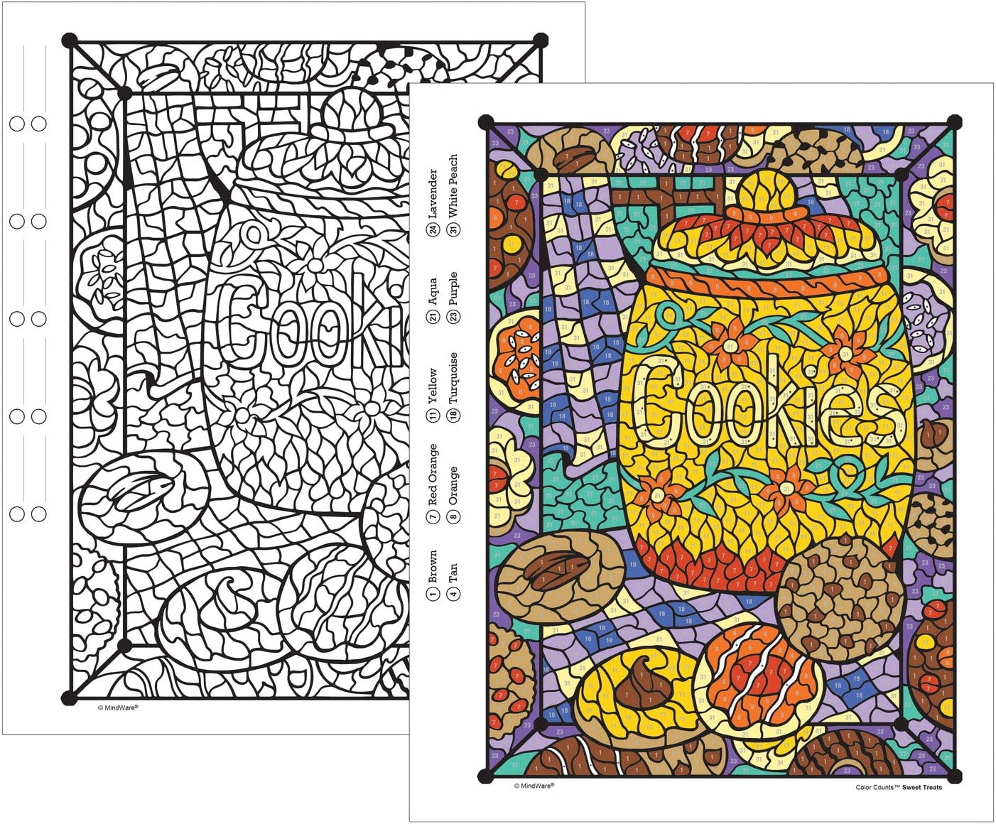 Activity Coloring Book For Kids Teens Adults Stress Free With 22 Beautiful Pages Relaxing Quiet Time Book For Boys Girls Mindware Color By Number Color Counts Glitter Sweet Treats Arts Crafts Craft