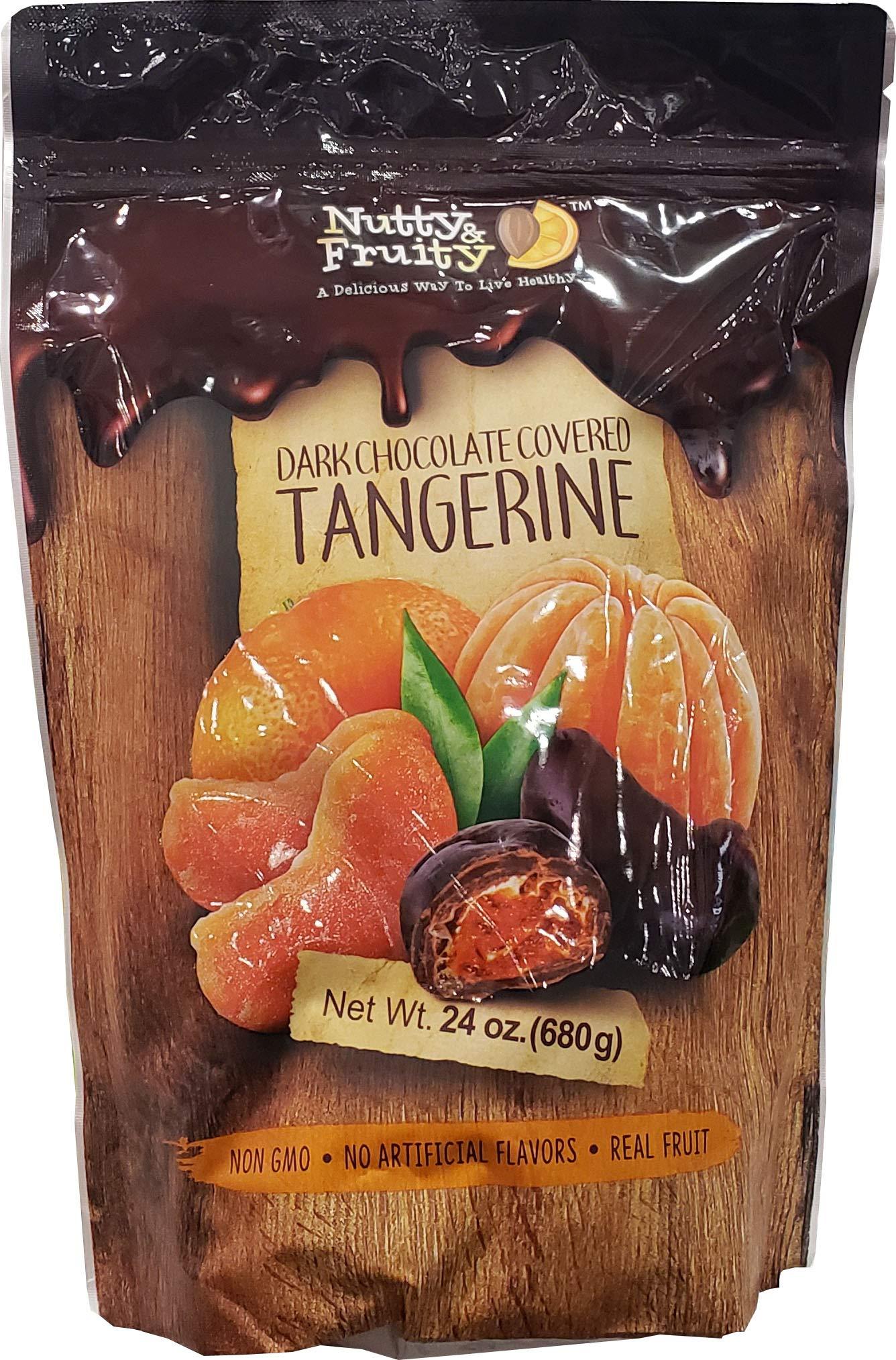 Nutty & Fruity Dark Chocolate Tangerines, 24 oz