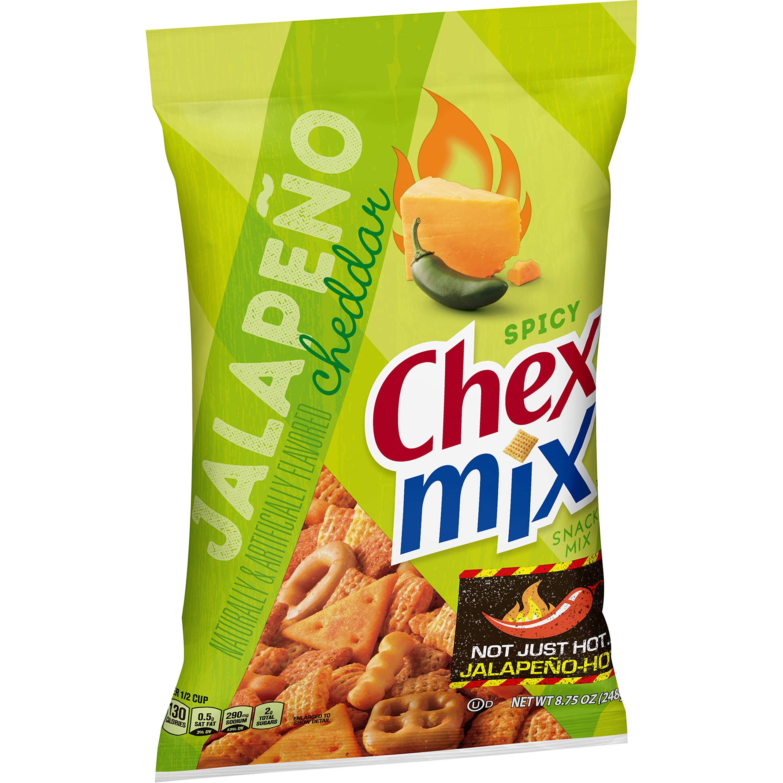 Chex Mix, Snack Mix, Jalapeno Cheddar, 8.75 oz. Bag